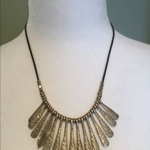 Lucky Brand Necklace with Feather